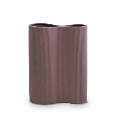 Marmoset Found- Ribbed Infinity Vase- Plum - Medium