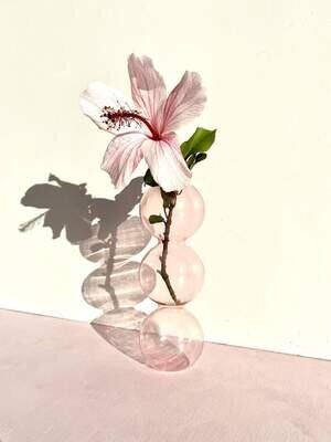 PRE ORDER: Gloria Speaking - Bubble Pink Glass Vase