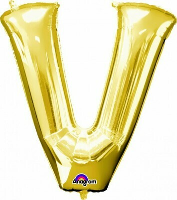 Super Shape Letter V Gold 34