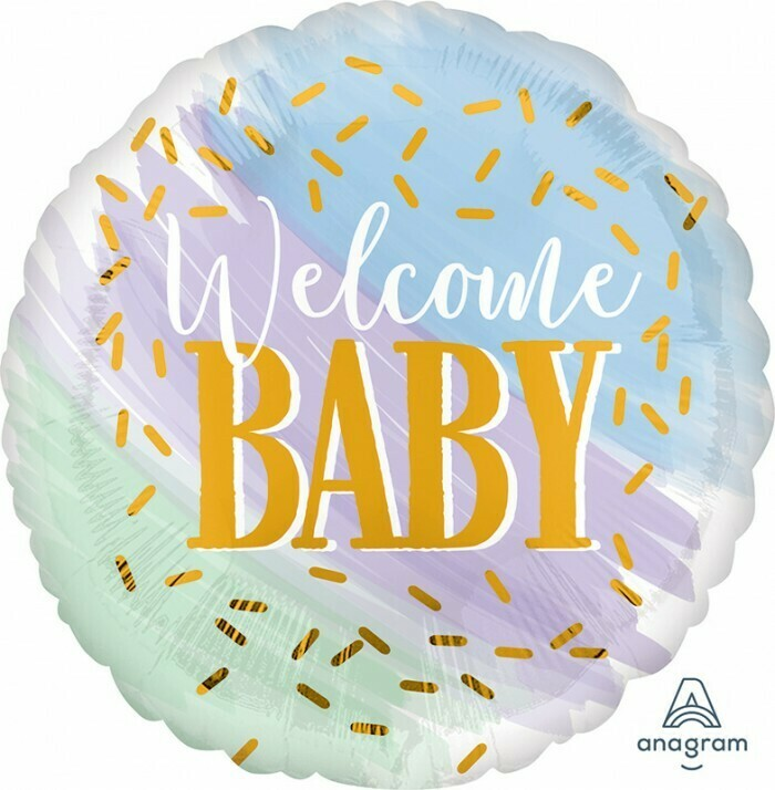 Watercolor Welcome Baby