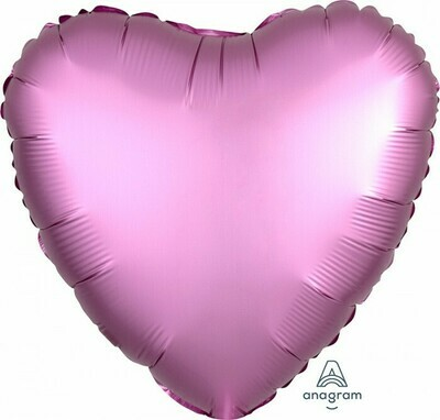 Heart Satin Luxe Flamingo