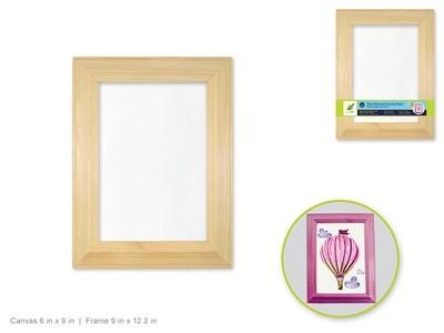 Wood Beveled Frame Mounted Canvas Panel: 9