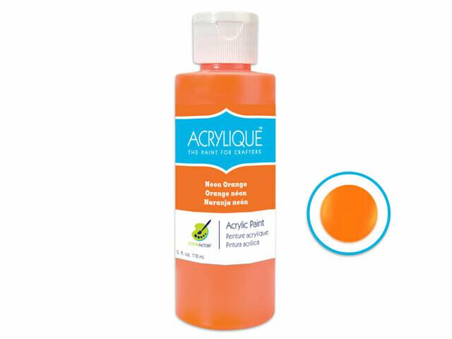 Neon Orange 4oz Paint