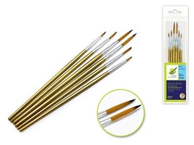Deluxe Nylon Round Kit x6 Wood Handle