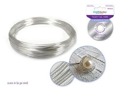 Silver Beading/ Jewelry Wire: 7 strand 0.012Diam.