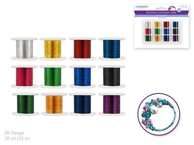 Beading/ Jewelry Wire: Metallic Colors 12 Spools 36yds