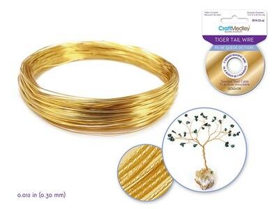 Gold Beading/ Jewelry Wire: 7 strand 0.012Diam.