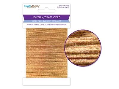 Jewery/ Craft Cord: Gold Stretch Cord 0.8mmx 18yds