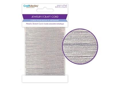 Jewery/ Craft Cord: Silver Stretch Cord 0.8mmx 18yds