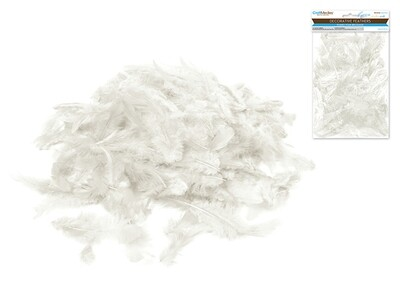 White Craft Feathers 12g
