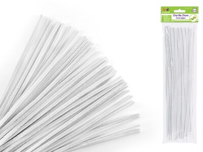 White  Pipe Cleaners 40/pk