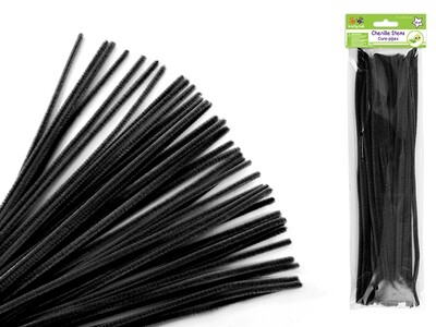 Black  Pipe Cleaners 40/pk