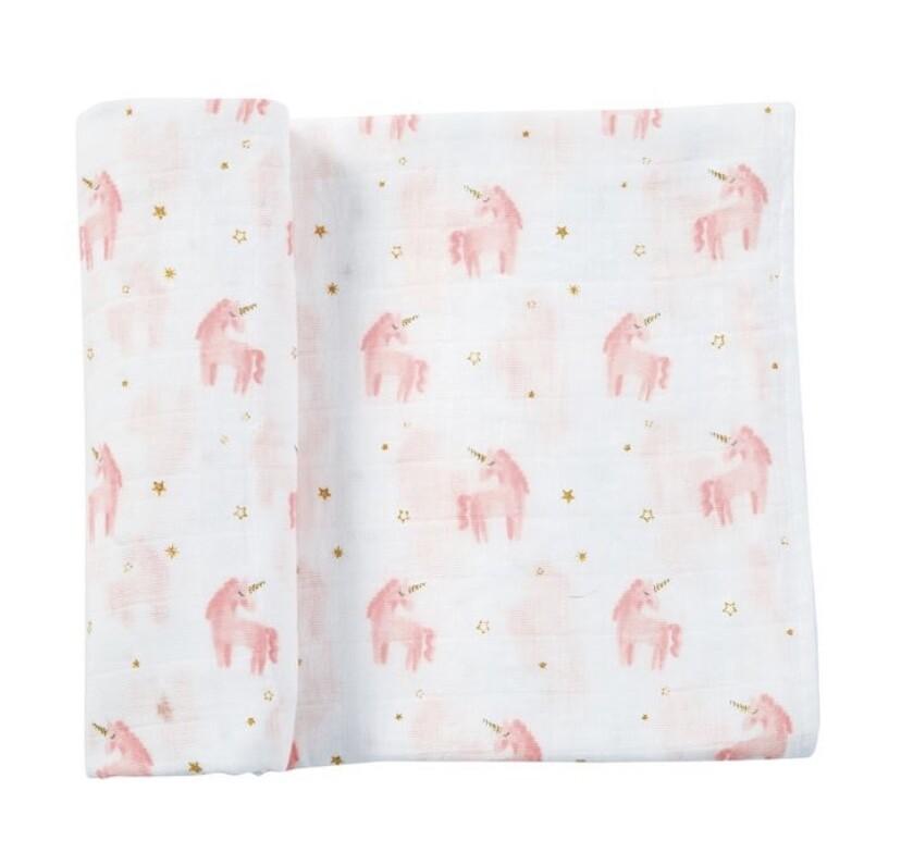 Unicorn Swaddle Blanket