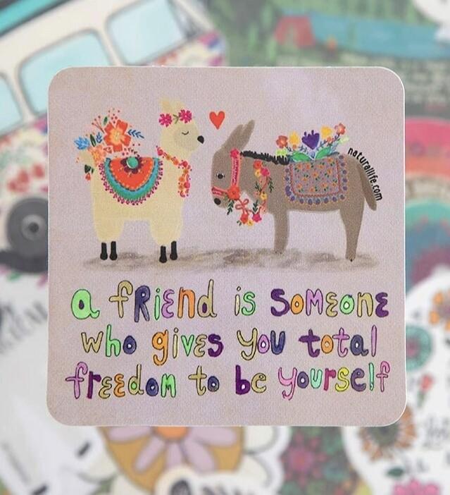 Friend Gives Sticker
