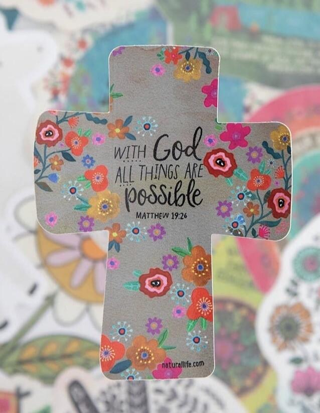 With God Sticker