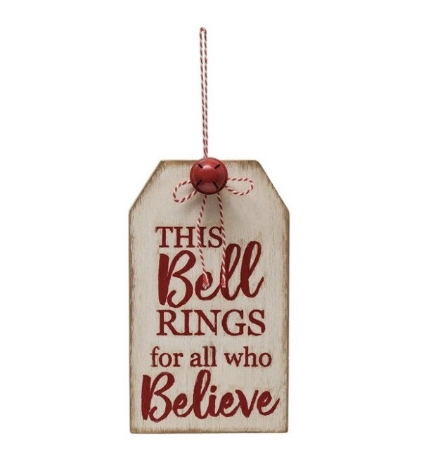 Believe Tag Sign