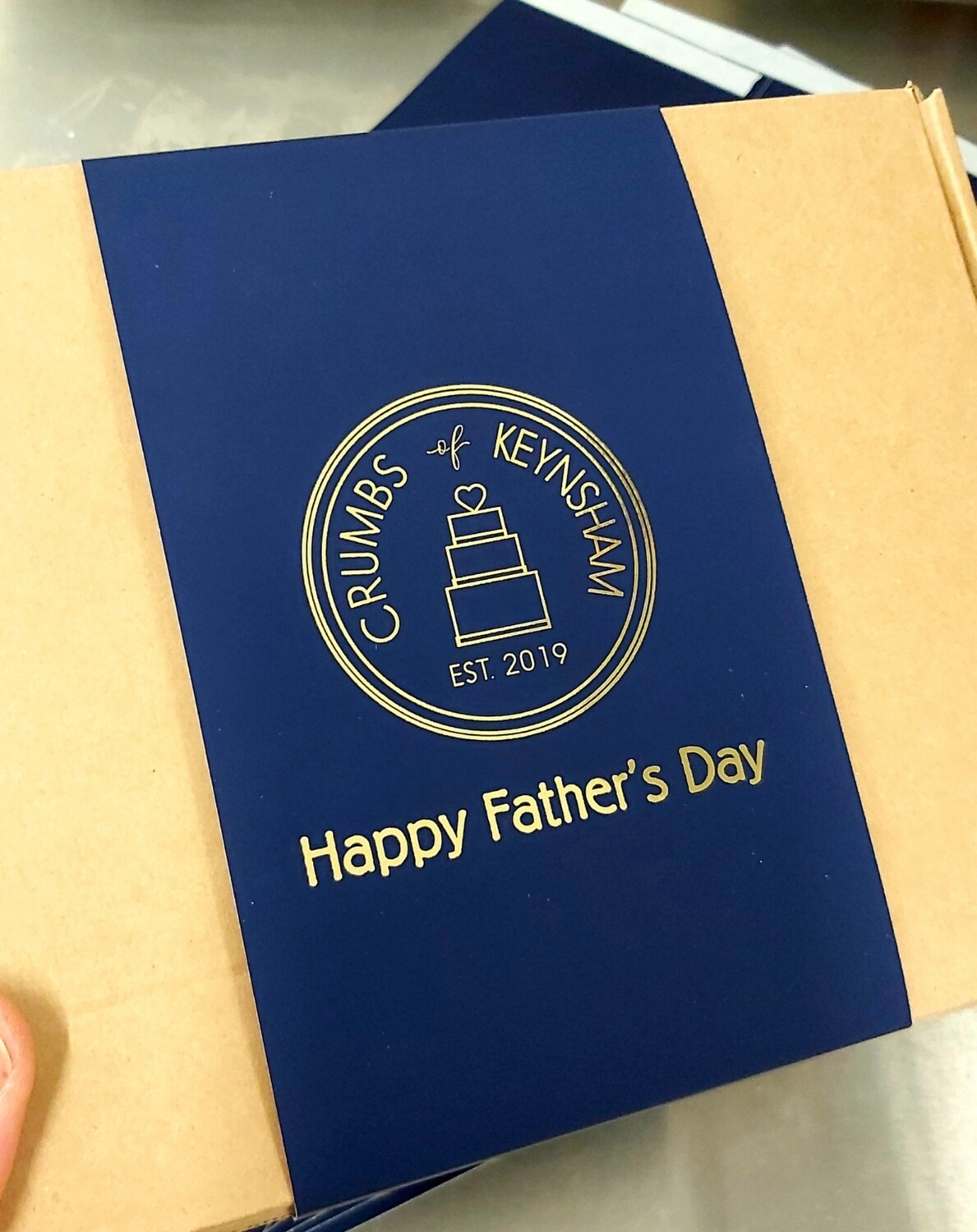 Father's Day Biscuit Brownie Box