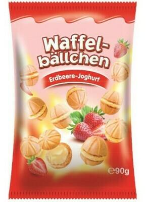 crisbiss Waffelbällchen Erdbeer 90g Beutel