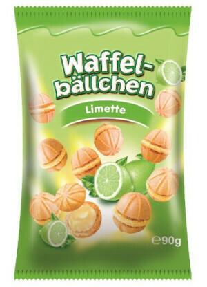 crisbiss Waffelbällchen Limette 90g Beutel