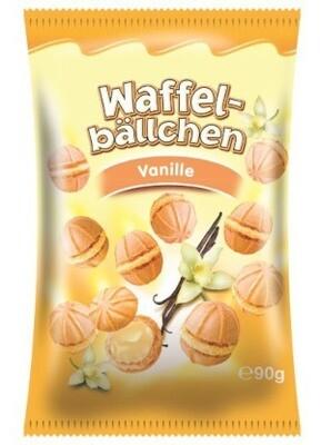 crisbiss Waffelbällchen Vanille 90g Beutel