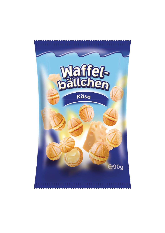 crisbiss Waffelbällchen Käse 90g Beutel