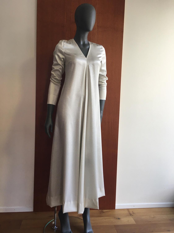 Claudia Krebser Seiden Lurex Kleid