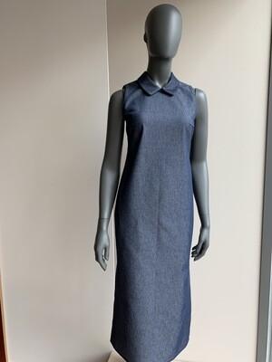 Claudia Krebser Jeanskleid mit Kragen