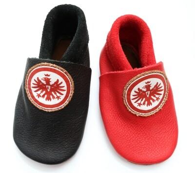 """Nens """"Lederschläppchen Eintracht Frankfurt"""""""