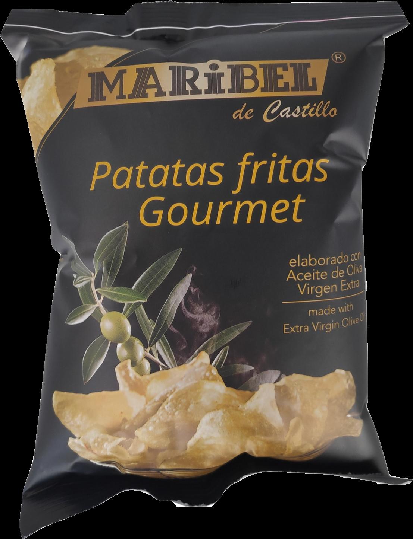 Natural Chip  Gourmet met extra viergen Olijfolie 50 gr per zakje.