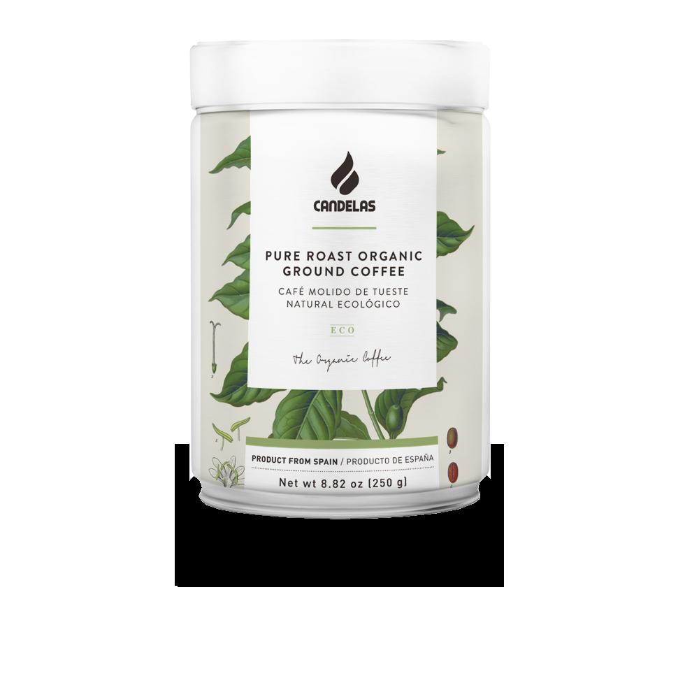 Biologisch Natuurlijk gemalen koffie ingeblikte 250 gr