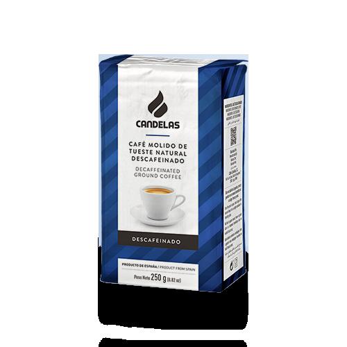 Natuurlijk gemalen koffie Candelas cafeïnevrij 250 gr