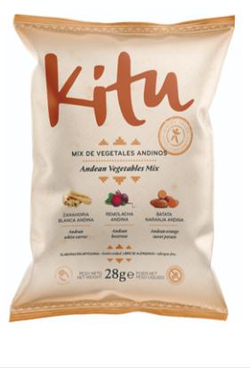 Soorten groenten uit Andes (Doos 12 zakjes van 28 gr per Zakje / Gluten & Lactose vrij