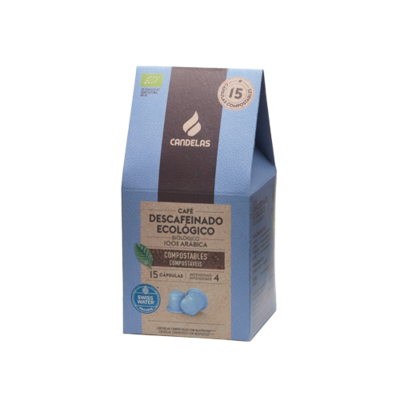 Biologisch Natuurlijk  Koffiecups cafeïnevrije /  15 capsules van 5,5 g per eenheid