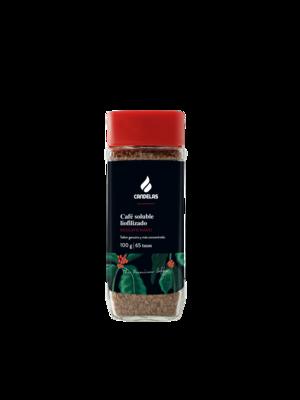 Oploskoffie  Cafeïnevrij Liofilizado 100 gr / 65 kopjes koffie.