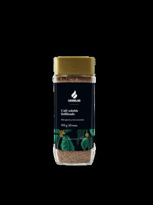 Oploskoffie Liofilizado 100 gr /  65 kopjes koffie..