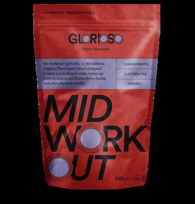 Biologisch veganistisch MidWorkout Isotónica Glutenvrij 390 gr / Bio formule met elektrolyten en vitamine C voor hydratatie tijdens training en wedstrijd.