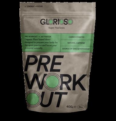 Biologisch veganistisch PreWorkout Activadory Glutenvrij 400 gr / Bio-formule met natuurlijke cafeïne en koolhydraten voor training en wedstrijd