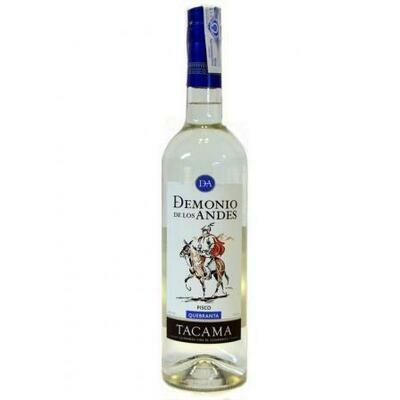 Pisco Demonio de los Andes (Quebranta, Albilla, Acholado) 40% .-  Doos per 6 fles van 70 cl per fles