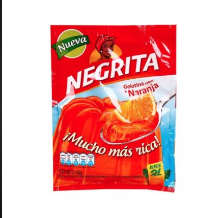 Gelatina Sabor Fresa, La Negrita (Doos x 24 unidades a 150 Gram c/u)
