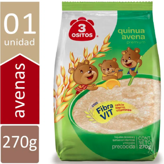 Avena Mix Fusion con Canela y Clavo,  Quinua, Kiwicha, Cereales Andinos & Maca