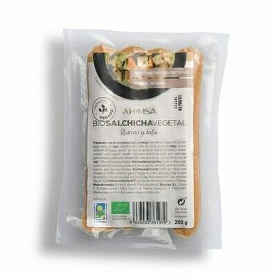 Biologische Vegetarisch Salchicha met Tufo & Quinoa 6 x 200 gr