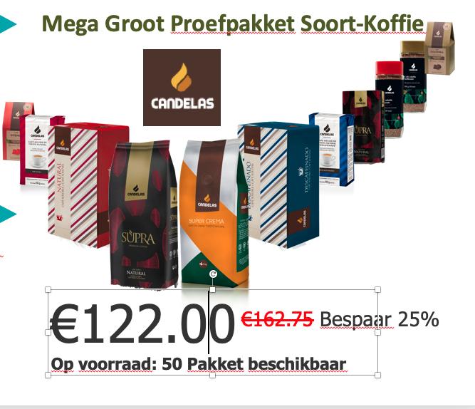 Mega Groot Proefpakket Soort-Koffie