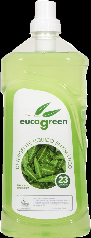 Pack van 8 flessen van De Biologische eucalyptus wasmiddel 1600 ml