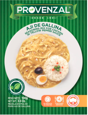Provenzal Base de Aji de gallina (Doos x 10 sachets van    100 Gram)
