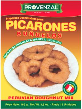 Provenzal Base de Salsa de Papa a la Huancaina, Salsa Ocopa, Olluquiro.  Picarones con miel