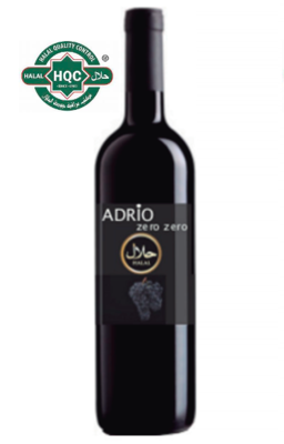 Halal Alcoholvrij Adrio Zero Zero rode wijn  /  6 x 75 cl