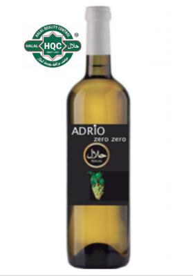 Halal Alcoholvrij Adrio Zero Zero witte wijn  /  6 x 75 cl