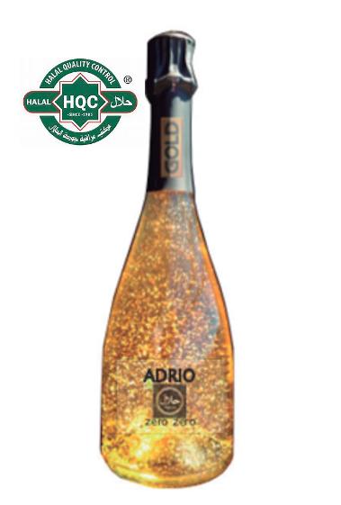 Halal Alcoholvrij Adrio Zero Zero witte cava met Goud  /  6 x 75 cl