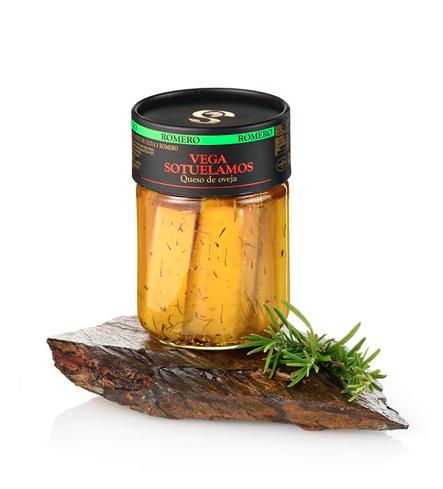 Pot Schapenkaas curado in extra vierge olijfolie met rozemarijn 400G.