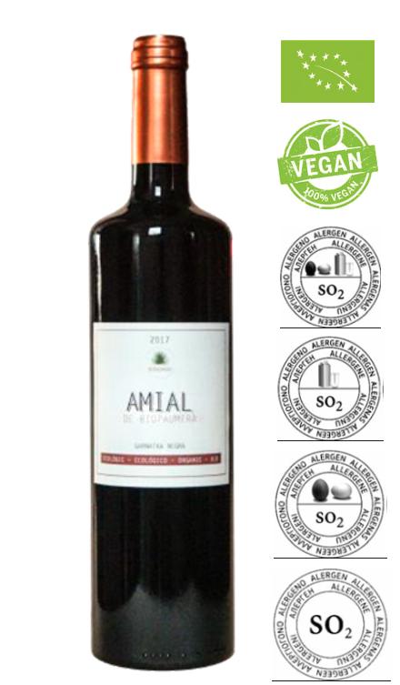 Black Garnacha Amial rode wijn 2019 sulfitenvrij / Doos 12 x 75 cl
